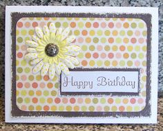 Grey and yellow birthday card