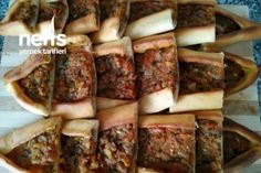 Kıymalı Puf Pide – Nefis Yemek Tarifleri Turkish Recipes, Sausage, Pork, Salt, Easy Meals, Kale Stir Fry, Sausages, Pork Chops, Chinese Sausage