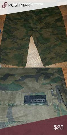 DKNY custom shorts Army fatigue pants cut into shorts DKNY Shorts Cargo
