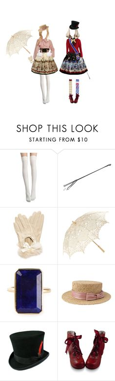 """""""twilight circus"""" by vogelprinz ❤ liked on Polyvore featuring Agent Provocateur, Forever New, LULUS, Irene Neuwirth, Liberty, lolita and rufflebutts"""
