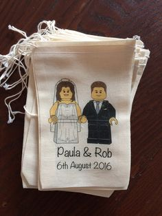 Lego-Inspired Wedding Favors - Lego Themed Wedding Invitations and Other Decoration Ideas - EverAfterGuide