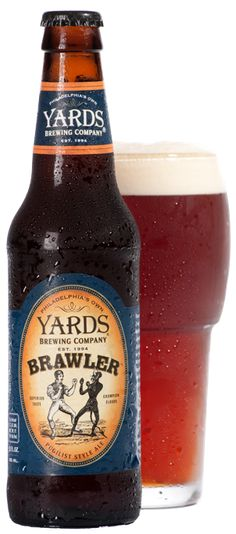 Yards Brawler (Mild Ale) Clear dark brown with a two-finger off-white head and modest lace. Aromas of caramel, earth, and nuts. Mild caramel sweetness offset with gentle earthy hops. Medium body, high carbonation, prickly mouthfeel and a dry finish.