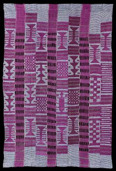 Shawl (aso oke) Date: 19th century Geography: Nigeria Culture: Yoruba peoples Medium: Cotton and silk Dimensions: H. 41 x W. 73 in. (104.14 x 185.42 cm) Classification: Textiles-Sculpture Credit Line: Purchase, Saretta Barnet Gift, 2012 Accession Number: 2012.335