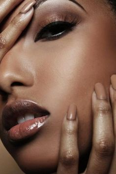 NUDE MAKEUP.........PERFECT MAKE UP #AFRICAN AMERICAN WOMEN.......CHECK OUT MORE ON DAILY BLACK BEAUTY EXCLUSIVES ON FACEBOOK!!!