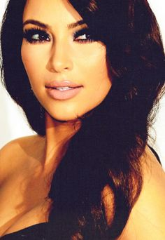 Kim K her hair and makeup is always perfect!