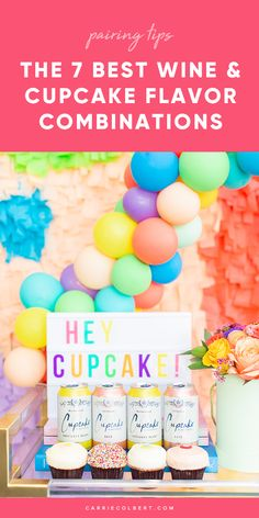 Hosting a girls night in? You'll want to try this super easy approach - including all the best recommendations for wine and cupcake pairings! Chardonnay Wine, Merlot Wine, Wine Cupcakes, Wine Chart, Cupcake Flavors, Cheese Party, Wine Parties, Sparkling Wine, Refreshing Drinks