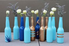 18 Different Ways to Repurpose Your Beer Bottles via Brit + Co