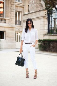 30 Fresh Ways To Wear White Jeans