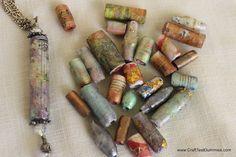 faux lampwork paper beads #diy