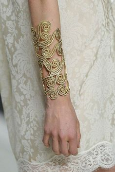 elegant cuff. If anyone knows who made it, I would love to give credit where it's due.