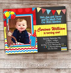 Hey, I found this really awesome Etsy listing at https://www.etsy.com/listing/189108470/curious-george-invitation-curious-george