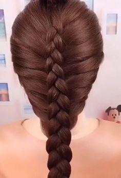 Braids hair for women – Tutorial Per Capelli Easy Hairstyles For Long Hair, Diy Hairstyles, Hairstyle Ideas, Simple Braided Hairstyles, Amazing Hairstyles, Medium Hair Styles, Curly Hair Styles, Natural Hair Styles, Girl Hair Dos