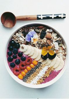 Try this visually stunning Smoothie Bowl for a healthy breakfast option.