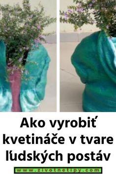 Ako vyrobiť kvetináče v tvare ľudských postáv Cement