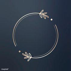 Round floral design logo vector   premium image by rawpixel.com / wan