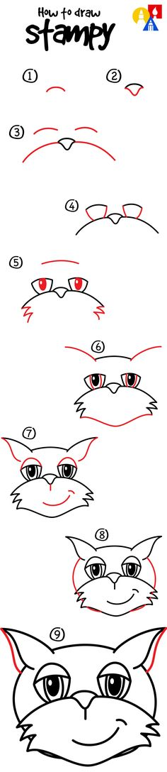 Learn how to draw Stampy!