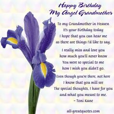 Grandmother's Birthday in Heaven | heaven join me in loving memory sympathy card messages condolences