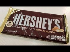 Hershey's Giant Milk Chocolate with Almonds Unboxing Product Opening Almond, Milk, Candy, Chocolate, Top, Almonds, Sweet, Toffee, Sweets