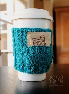 Both pretty and practical, pocket cozies have the perfect space to tuck in some extra sweetener or an extra teabag for later! Quick and easy – these clever little cozies make a perfect gift you can stitch up in an evening with less than 50 yards. Wrap them around a reusable cup and tuck in a giftcard to your favorite coffee house for a gift they'll use again and again…