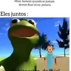 Stupid Funny Memes, A Funny, Pc Memes, Brazilian People, Memes Gretchen, Memes Status, Anime Neko, Super Mario Bros, Videos Funny