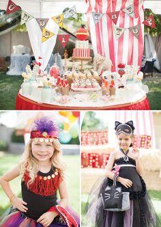 Una espectacular mesa de dulces para una fiesta circo / A spectacular sweet table for a circus party