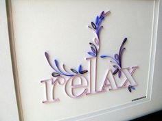 Quilled wall art | Flickr - Photo Sharing!