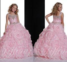 Wholesale Girl's Pageant Dresses - Buy 2015 Lovely Pink Girl's Pageant Dresses Little Kids Outstanding Beaded Crystal Single Long Sleeve Beauty Pageant Dress Flower Girl Dresses, $95.38 | DHgate.com