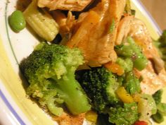 1 wok 1 Costco bag of frozen stir fry vegetables, 2-3C or so thawed 1-2 Costco frozen salmon filet(s), thawed cracked pepper and soy sauce preparation time: 12 minutes Stir frying is great on all counts. I usually do it a couple of times a week.. Awesome picture