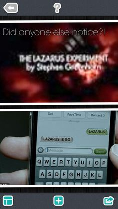 """Made this myself. Mark Gatiss was the young version of Lazarus in Doctor Who's """"The Lazarus Experiment"""". Apparently, in Sherlock's """"The Reichenbach Fall"""", the code name """"LAZARUS"""" wasn't just a random word. It was a reference."""