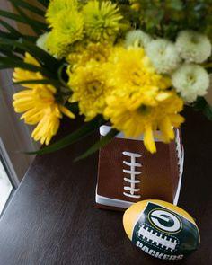 DIY football vase?  How cool...