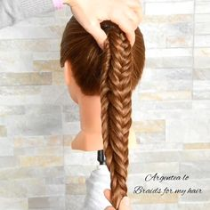 Cute Hairstyles, Braided Hairstyles, Lovely Tutorials, Dry Hair, Fishtail, Hair Care, Braids, Hair Beauty, Dreadlocks