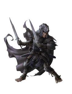 m Halfling Fighter w 2 swords
