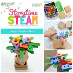 chicka chicka boom boom- build an alphabet tree- STEAM activity