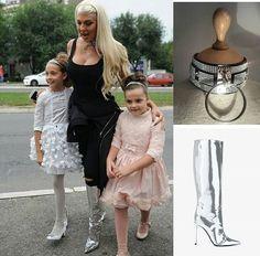 @demodejewelry - luxury leather joker, Balenciaga - metallic patent leather knee-high boots