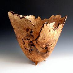 large ambrosia maple birdseye burl bowl by JL Wood Turning on Etsy