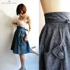 Heartland Organic denim wrap skirt  Navy / by SimonesRoseBoutique, $118.00