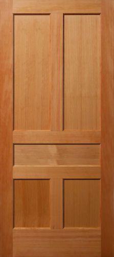 Primed MDF Horizontal 5 Panel Interior Door