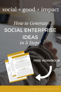 How to Generate Social Enterprise Ideas in 5 Steps! Click through for the free workbook and step-by-step guide. Business Ethics, Business Entrepreneur, Triple Bottom Line, Social Entrepreneurship, Social Enterprise, Step Guide, Social Media, Writers, Tips