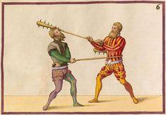 Volume I of 'De Arte Athletica' by Paul (Paulus) Hector Mair (mid-1500s) - Ratio Superni Ictus Contra Medium
