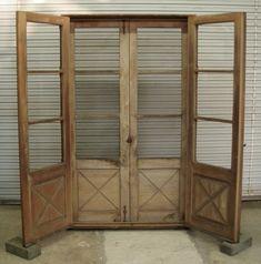 Antique screen doors on pinterest screen doors vintage for Wooden screen doors for french doors