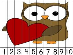 Using this  Hoot Hoot! Valentine Number Puzzle for my preschool storytime craft tomorrow. Going to laminate and cut into strips for a cool takehome craft for the kiddos.