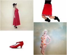 Vintage red fashion ♥ #vintage #fashion #style #summer