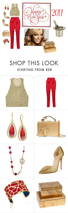 """""""A New Year!!!!!!!🍾"""" by jbeb ❤ liked on Polyvore featuring Alice + Olivia, Juan Carlos Obando, Anne Klein, Mark Cross, Chanel, Christian Louboutin, Les Georgettes and Lunares"""