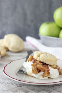 Apple Pie Biscuit Shortcakes