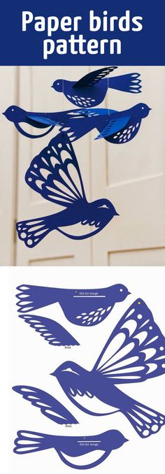 Paper birds pattern by DIY Paper Lanterns Paper lanterns come in diverse sizes and styles Origami Bird, Origami Paper, Diy Paper, Paper Art, Paper Crafts, Diy And Crafts, Crafts For Kids, Arts And Crafts, Paper Birds
