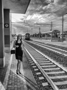 Woman in the train station by Paolo Maresca on 500px