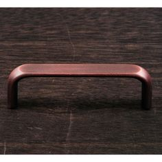 This distressed copper finish standard size cabinet pull with smooth rectangular design from RK International is perfect for use on cabinet doors and drawers capable of accepting a mounted pull.