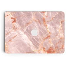 Blush Marble MacBook Skin (175 DKK) ❤ liked on Polyvore featuring accessories and tech accessories