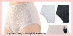 3 Pairs of Ladies Lace Front  Briefs by Anucci  Black,White,Pink 16,18