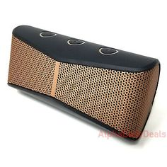 Logitech X300 Speaker Mobile Wireless Bluetooth Stereo Portable Black Brown Mini  | eBay Garmin Etrex, Channel Branding, Xbox One Pc, Pc Ps4, Gaming Headset, Surround Sound, Logitech, Black And Brown